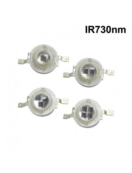 IR730nm 1W / 5W Infrared Red IR LED Emitter ( 1 pc )