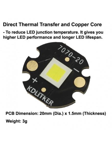 Custom P70 HI 6V 5000mA 4000 Lumens LED (1 PC)