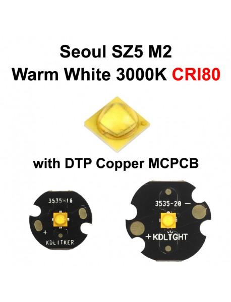 Seoul SZ5 M2 Warm White 3000K High CRI80 LED Emitter (1 pc)