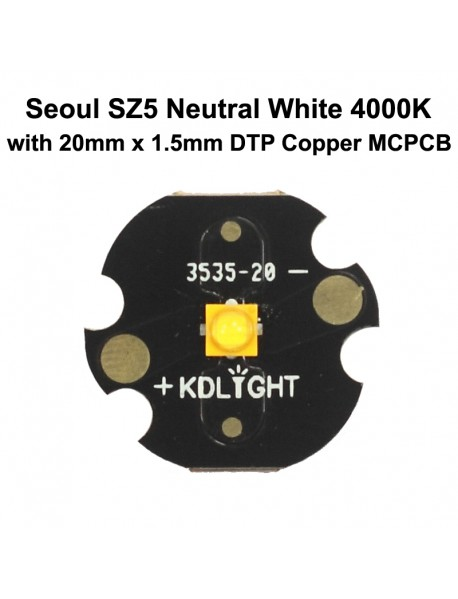 Seoul SZ5 Neutral White 4000K High CRI80 LED Emitter (1 pc)