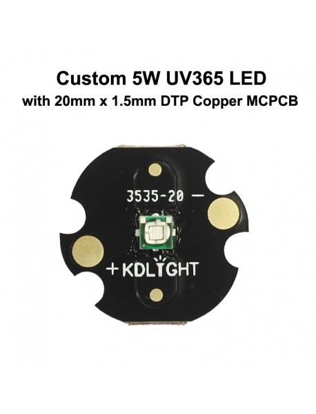 Custom 5W UV 365nm Ultraviolet UV LED Emitter (1 pc)