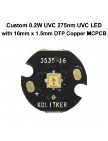 Custom 0.2W UVC 275nm Ultraviolet UVC LED Emitter (1 pc)