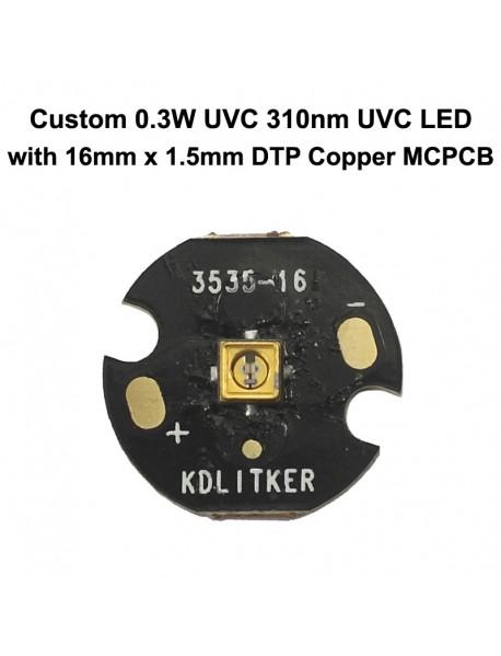 Custom 0.3W UVC 310nm Ultraviolet UVC LED Emitter (1 pc)