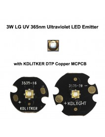 3W LG UV 365nm Ultraviolet UV LED Emitter (1 pc)