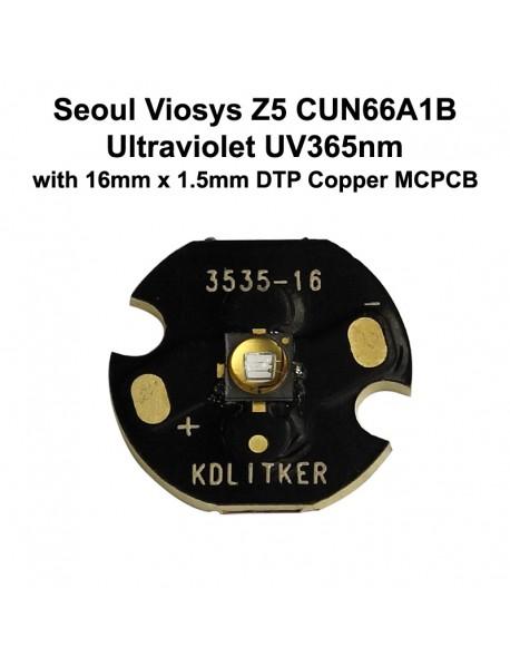 Seoul Viosys UV 365nm Z5 Series CUN66A1B Ultraviolet UV LED Emitter (1 pc)