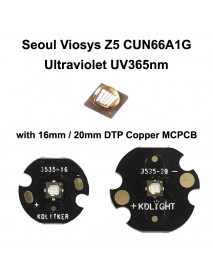 5W Seoul Viosys UV 365nm Z5 Series CUN66A1G Ultraviolet UV LED Emitter (1 pc)