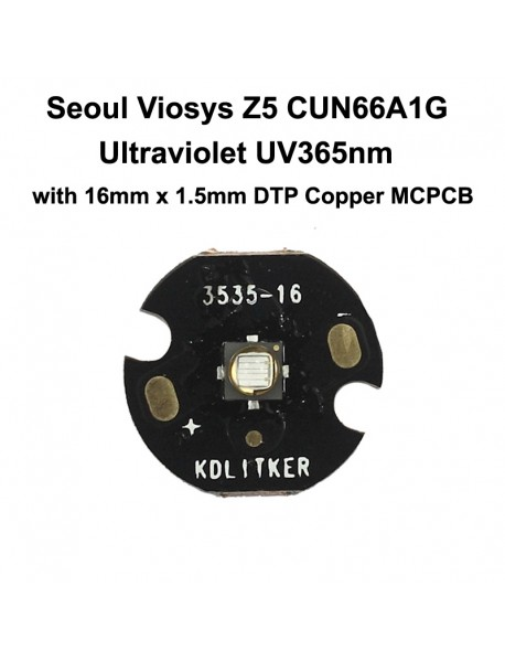 5W Seoul Viosys UV 365nm Z5 Series CUN66A1G Ultraviolet UV LED Emitter (1 pc)
