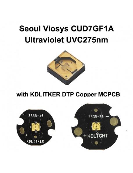 Seoul Viosys UVC 275nm CUD7GF1A Ultraviolet UVC LED Emitter (1 pc)