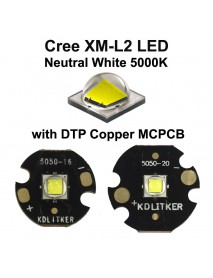 Cree XM-L2 U4 3B Neutral White 5000K LED Emitter (1 pc)