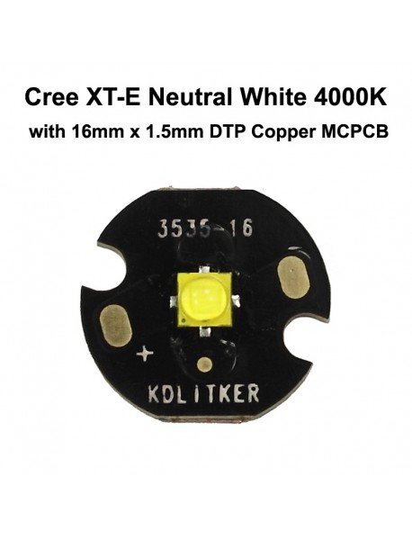 New Cree XT-E S4 5A3 Neutral White 4000K LED Emitter (1 pc)