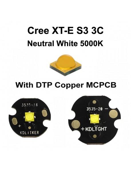 New Cree XT-E S3 3C Neutral White 5000K LED Emitter (1 pc)