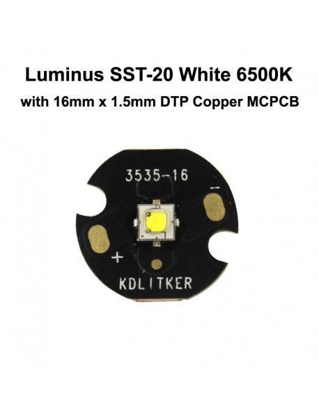 Luminus SST-20 L2 BA White 6500K LED Emitter - 1 pc