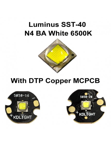 Luminus SST-40 N4 BA White 6500K LED Emitter - 1 pc