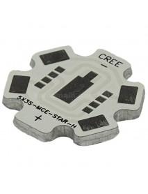 20mm(D) x 2.1mm(T) Serial Star Aluminum Base Plate for Cree MC-E (5 pcs)