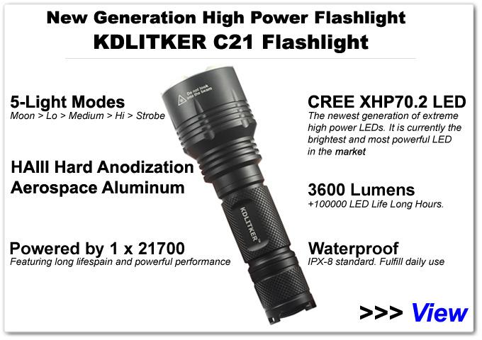 High Power  KDLITKER C21 LED Flashlight