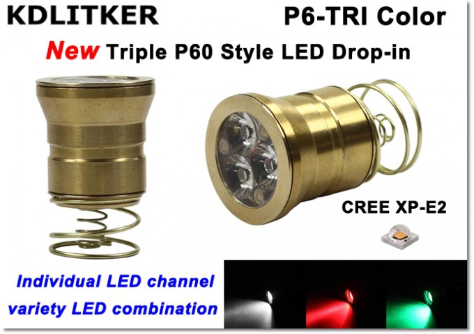 KDLITKER New Style Triple P60 LED Drop-in Banner