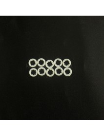 5050 LED Gaskets for 9mm Reflector Hole 9.6mm (D) x 0.8mm (T) (10 pcs)