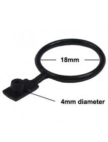 18mm(D) Anti-Dust Plug for LED Flashlights Power Port - Black (5 pcs)