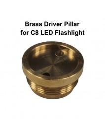 DIY 26mm(D) x 13.5mm(H) Brass Driver Pillar Set for C8 LED Flashlights ( 1 pc )