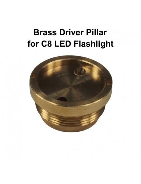 C8 Flashlight Brass Driver Pillar 26mm (D) x 13.5mm (H) (1 pc)