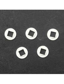 11mm(D) x 0.65mm(T) White Plastic Insulation Gaskets for Cree XM-L - 10 pcs