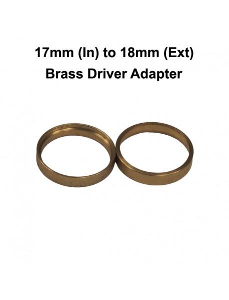 KT03 17mm (Inner) to 18mm (External) Brass Ring Driver Adapter (2 pcs)