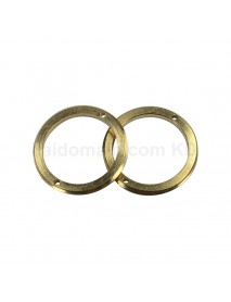 22.8mm (D) x 2mm (T) Brass Driver Retaining Ring for LED Flashlights