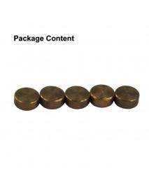 5mm(D) x 2mm(H) Brass Pill (5 pcs)