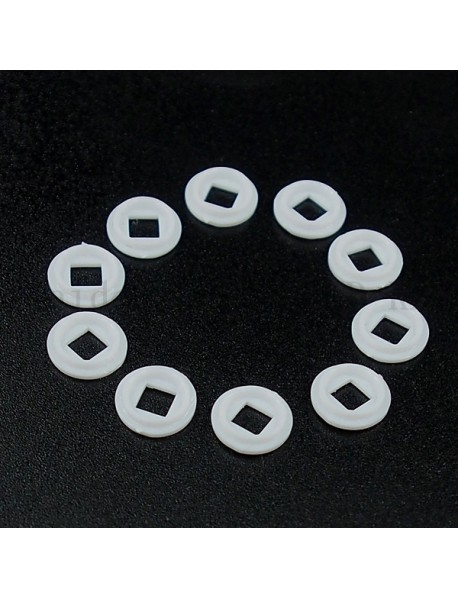 8.4mm(D) x 0.9mm(T) White Plastic Insulation Gaskets for Cree XP-L - 10 pcs