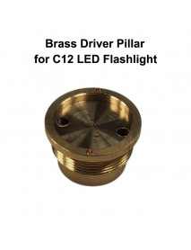 DIY 26mm(D) x 16mm(H) Brass Driver Pillar Set for C12 LED Flashlights - 1 pc