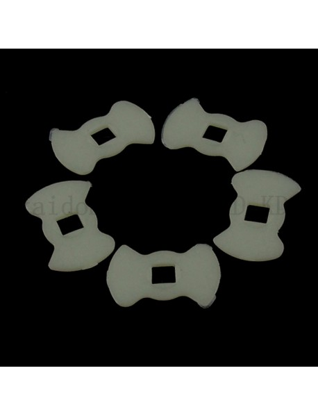 15.8mm(L) x 10mm(W) x 0.8mm(T) White Plastic Insulation Gaskets for Cree XP-E / XP-G (5 pcs)