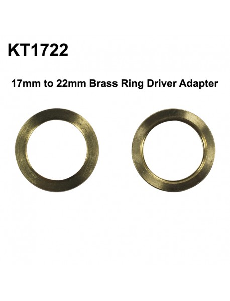 KT1722 17mm (Int) to 22mm (Ext) Brass Ring Driver Adapter - 2 pcs