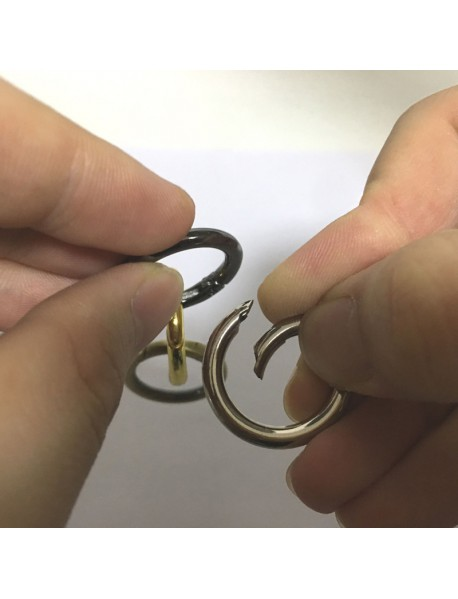 EDC 28mm Round Alloy Keyring Ring (2 pcs)
