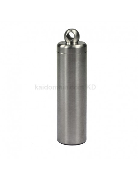 58mm (L) x 15mm (D) Stainless Steel Pill Storage Case