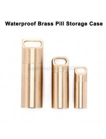 Outdoor EDC Waterproof Brass Pill Storage Case Seal Canister