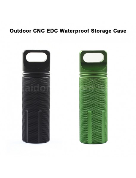 100mm (L) x 31mm (D) Waterproof Aluminum Storage Case Seal Canister