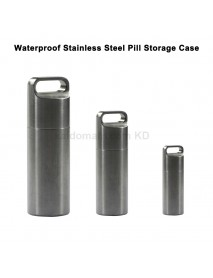 Outdoor EDC Waterproof Stainless Steel Pill Storage Case Seal Canister