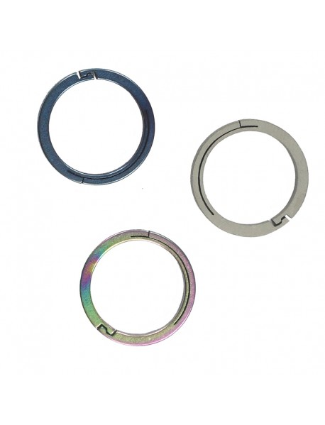 EDC 18mm Round Titanium Keyring Ring (1 pc)