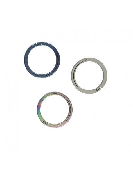 EDC 22mm Round Titanium Keyring Ring (1 pc)