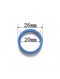 EDC 26mm Round Titanium Keyring Ring (1 pc)