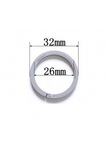 EDC 32mm Round Titanium Keyring Ring (1 pc)