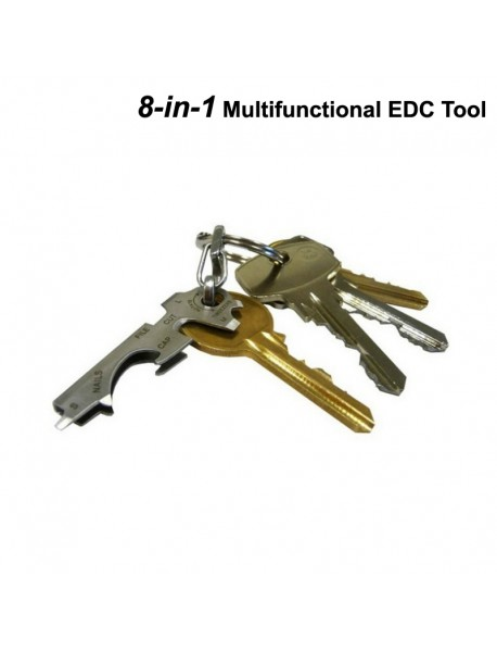 EDC Multifunctional 8-in-1 Stainless Steel EDC Tool (1 pc)