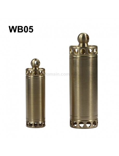 WB05 Outdoor EDC Waterproof Brass Pill Storage Case Seal Canister