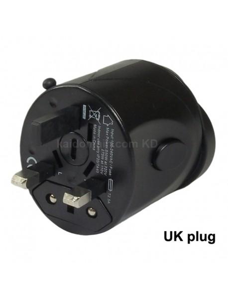 KCF-031 Universal USB Travel AC Power Adapter 6A 110V - 240V - Black (1 pc)