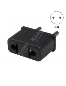 US to EU Power Plug Adapter 6A 125V-250V - Black (2 pcs)