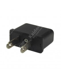 EU to US Power Plug Adapter 6A 125V-250V - Black (2 pcs)