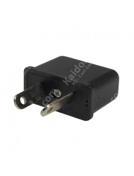 US/EU to AU Power Plug Adapter 6A 125V-250V - Black (2 pcs)