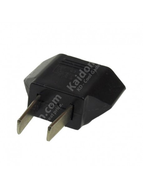 EU to US Power Plug Adapter - Black (2 pcs)