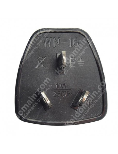 WN-16 Universal CN/AU/NZ Travel AC Power Adapter Plug - Black (1 pc)