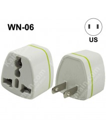 WN-06 Universal US Travel AC Power Adapter Plug - White (1 pc)